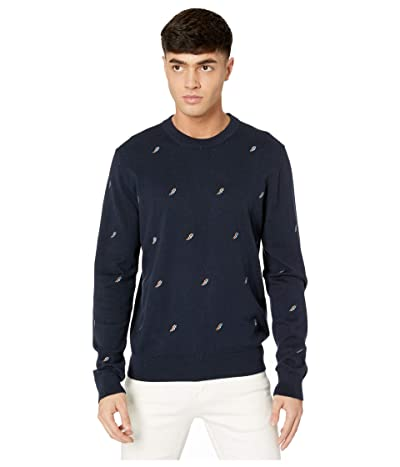 Paul Smith PS Flash Embroidered Sweater (Dark Navy) Men