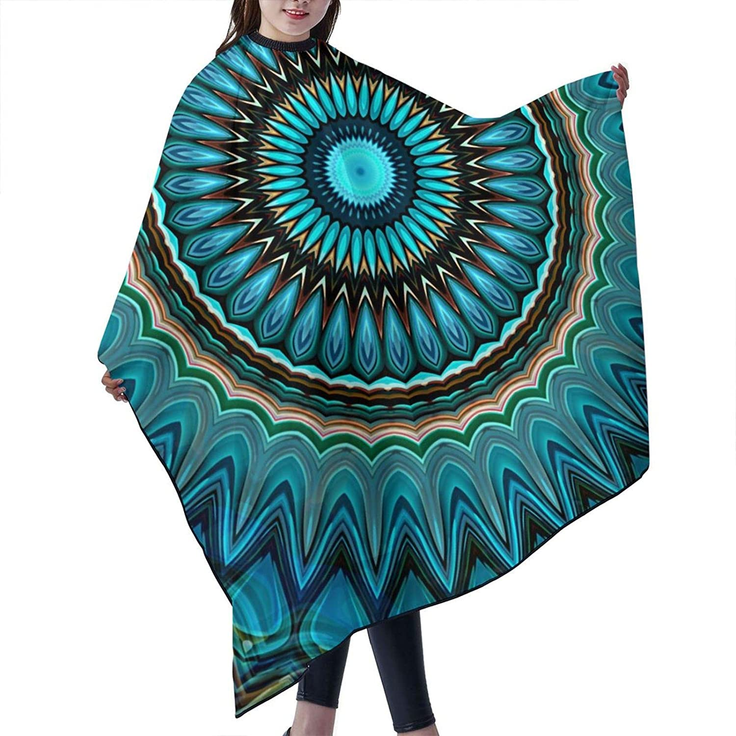 Turquoise Teal Green New Free Shipping Finally resale start Circle Barber Cape Cover Cloak Professional