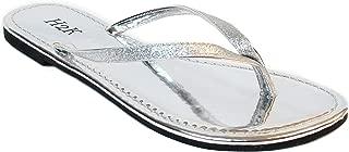 Women's Glitter Casual Flat Thong Flip Flops Sandals Sassy