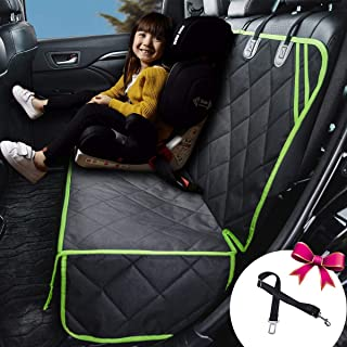 petalage Bench Car Seat Cover for Dog Seat Cover Waterproof Non Slip Dog Seat Protector Hammock for Back Seat for Kids Fits Most Cars, Trucks, SUVs (HYSC4)