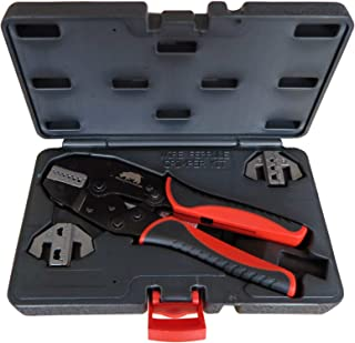 Bootlace Wire Ferrule Crimper | Cord End | 3 Die Quick Change Crimping Kit | AWG 22-2 | 0.5-35mm²