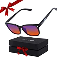 Sponsored Ad - 99.9% Blue Light Glasses Help Women and Men Sleep Better Plus Stop Eye Strain, Headaches and Migraines So Y...