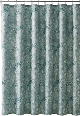 Bellabad Blue Shower Curtain with pockets for bathroom utensils 180 x 200 cm