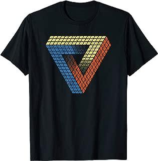 Cube Triangle Optical Illusion T shirt