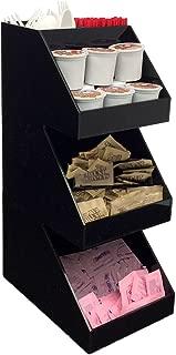 Mind Reader Acrylic 3-Tier Coffee / Tea Condiment Organizer, Black