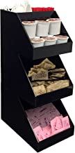 Mind Reader Acrylic 3-Tier High Quality Coffee/Tea Condiment Organizer, Black