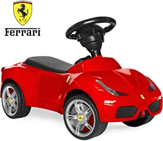 Best Choice Products Kids Licensed Ferrari 458 Sports Car Ride On Push Pedal Vehicle w/ Steering Wheel, Horn- Red