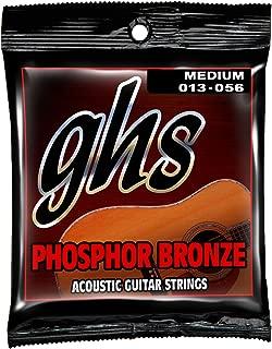 GHS Strings S335 Phosphor Bronze Acoustic Guitar Strings, Medium (.013-.056)