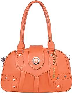 Orange Shoulder bag for women daily use handbags for girls college bag for girls casual handbags for women-1557