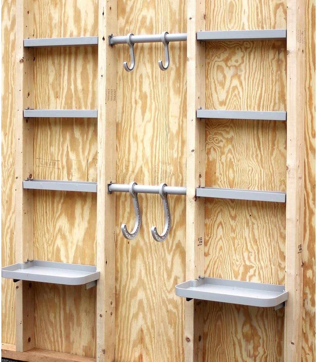 VersaCaddy Open Stud 48  x 48  Storage Shelving Garage Organizer Shed Storage Shelves