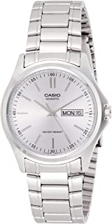 Casio Men's Silver Dial Stainless Steel Analog Watch - MTP-1239D-7ADF