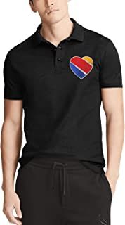 Male Southwest Airlines Company Polo Shirts Basic Meeting Collar T Shirts