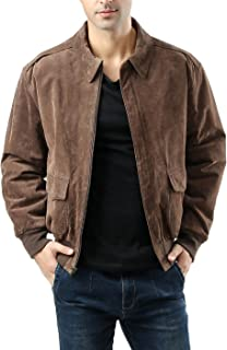 Landing Leathers Men's Air Force A-2 Suede Leather Flight Jacket (Regular Big & Tall)