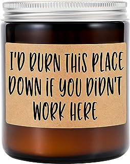 الشموع المعطرة باللافندر من جي إس بي واي - هدايا زميل العمل في ترك هدايا للنساء - شكر مضحك ، التقدير ، أنا أقدر لك ، وداع...