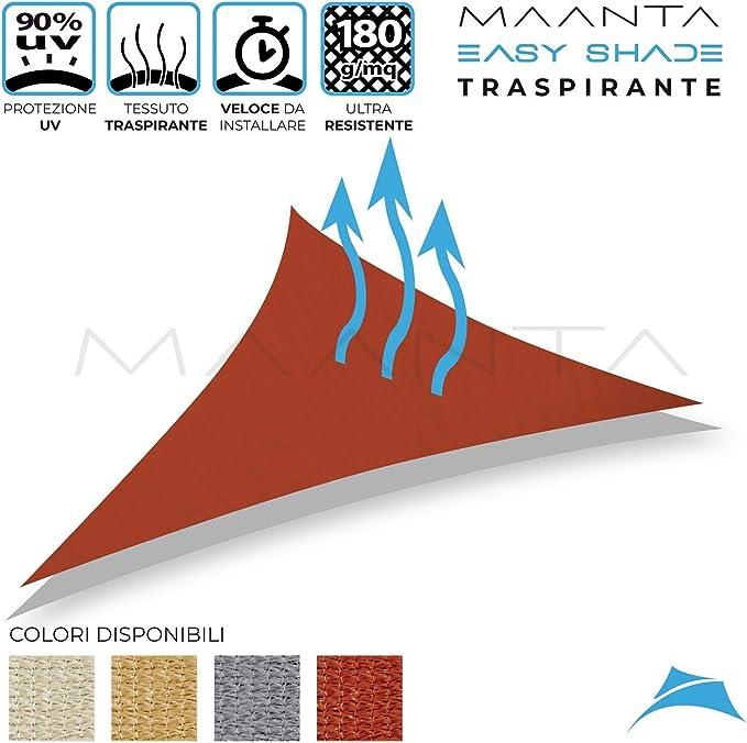 Maanta EasyShade Tende a Vela OmbreggianteEasyShade Breathable-HDPE 180gr//sqm 3x5 Metri Graphite