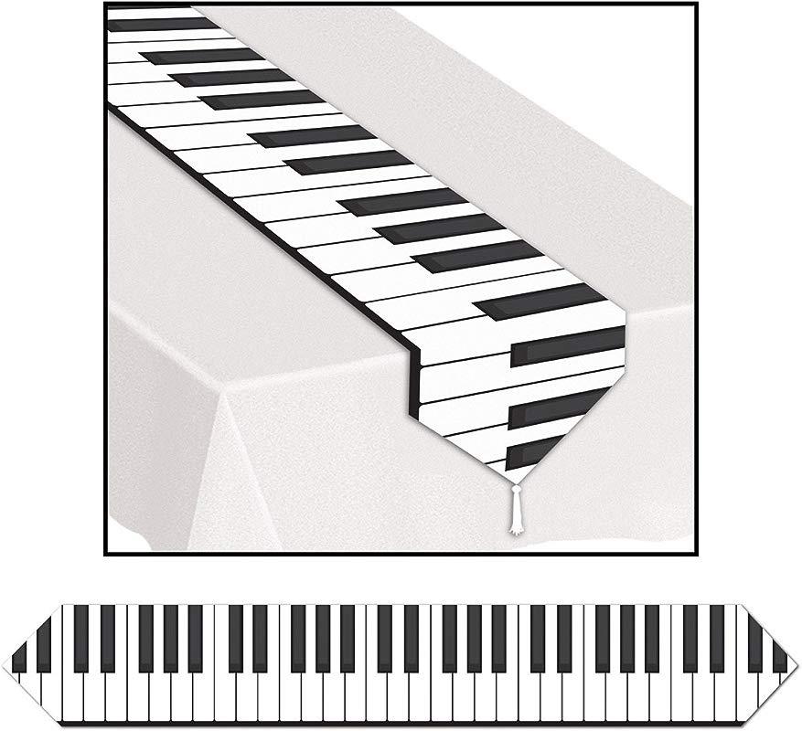Club Pack Of 12 Printed Piano Keyboard Table Runner 6