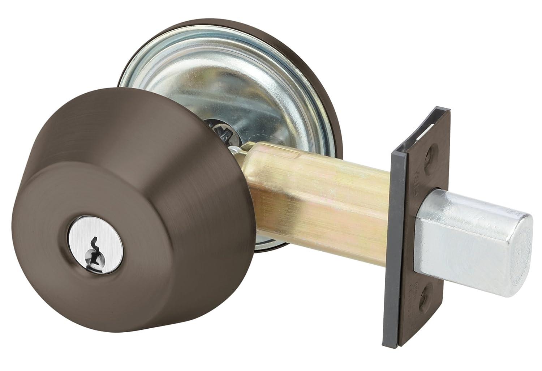 6 Pin 2 3//4 Backset Cylinder by Thumbturn PARA KR 613E 100 Series Deadbolt Para Keyway Yale D112 1807 Keyed Random 6P 613E Dark Satin Bronze