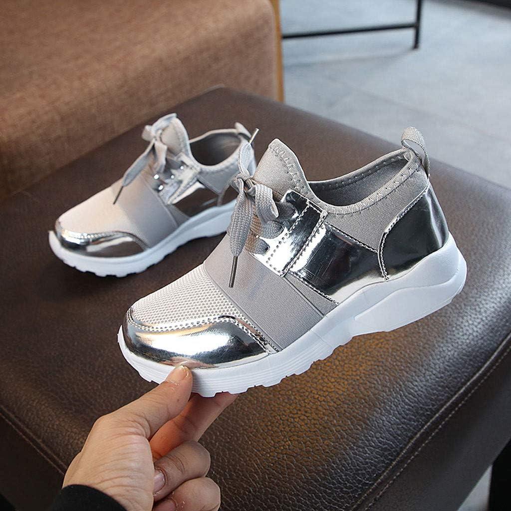 Unisex Zapatillas de Deporte Baloncesto de Malla Casuales Zapatos Correr Sneakers de Suela de Antideslizante Transpirable para Beb/é Ni/ñas Ni/ños Fannyfuny