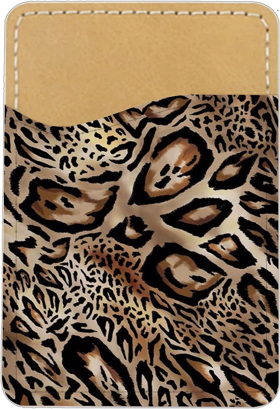 Slick-Surfaced Leather Light Printing Little Leopard Boys Compatible with Card Holder