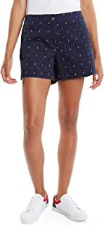 Nautica Women's Comfort Tailored Stretch Cotton Solid and Novelty Short