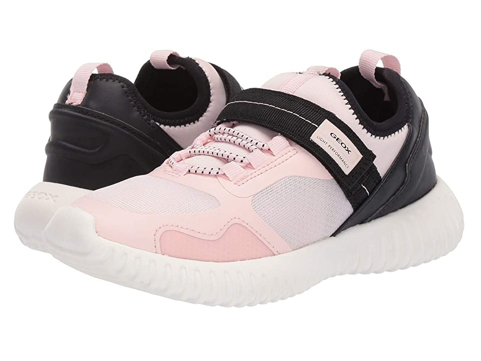 Geox Kids Waviness Girl 9 (Little Kid/Big Kid) (Light Rose/Black) Girl