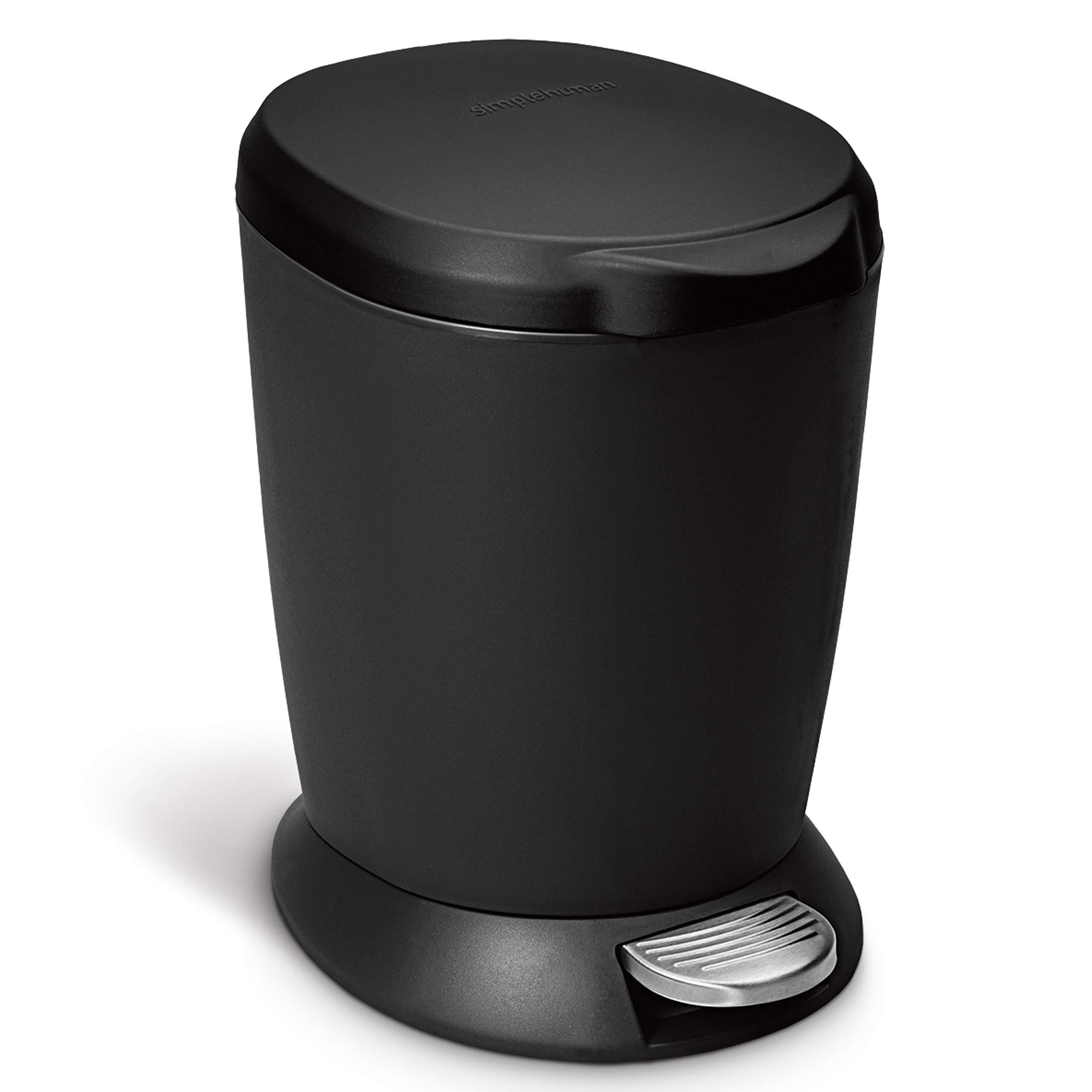 simplehuman Gallon Compact Plastic Bathroom