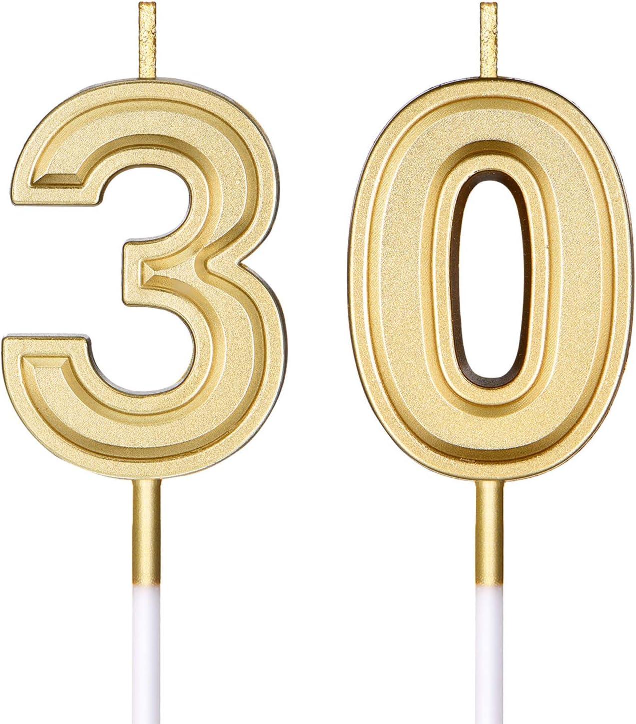 Frienda 30th 1 year warranty Birthday Candles Birthda Cake Numeral Happy Deluxe
