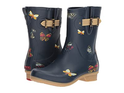 Chooka Butterfly Mid Rain Boots (Navy) Women