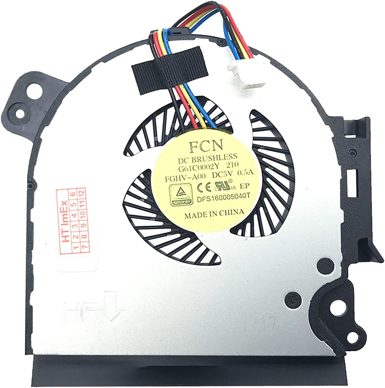 Ventilador de refrigeración compatible con Toshiba Satellite Pro A50-C-1G9, A50-C-116, A50-C-125, A50-C-1GL, A50-C-111, A50-C-124, A50-C-1GW, A50-C-10J, A50-C-121, A50-C-11111111 JH, A50. -C-118