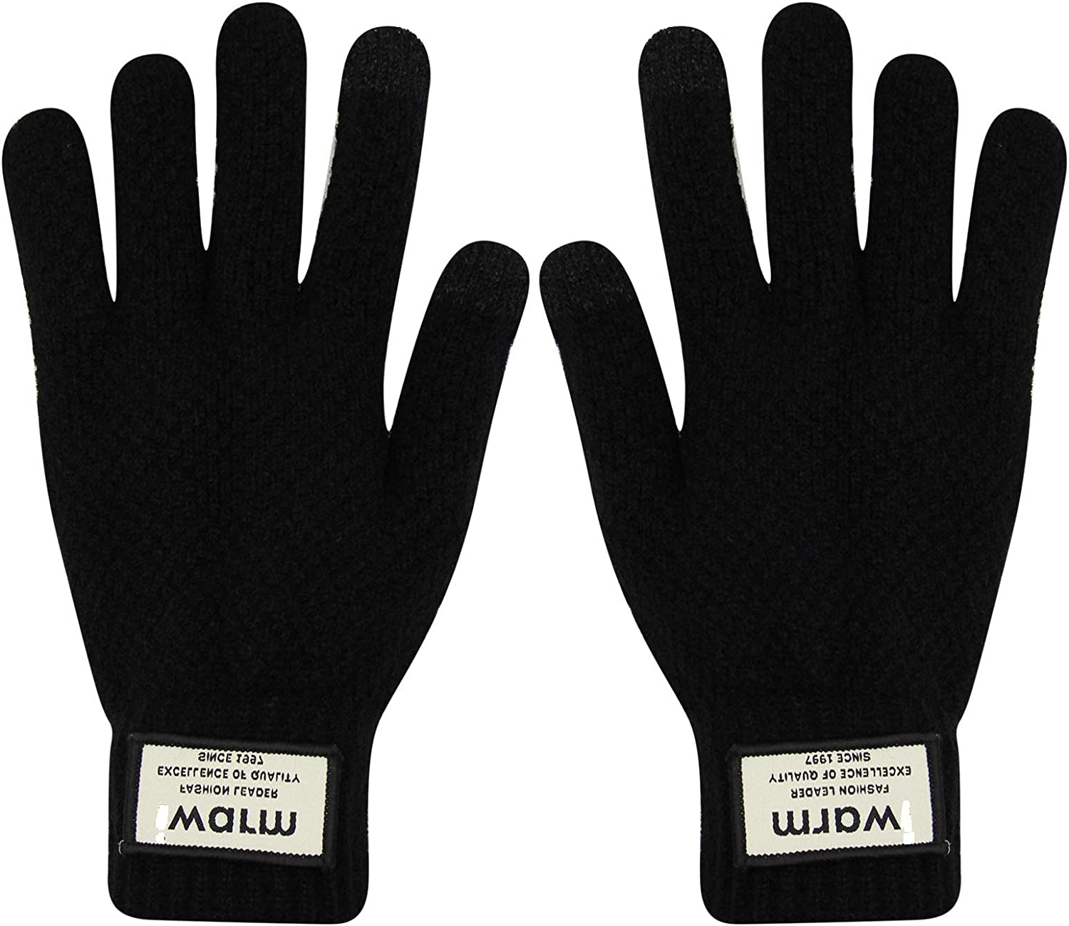 Winter Knit Gloves Touchscreen Warm Thermal Texting Mittens for Women Men
