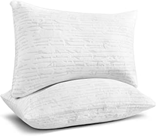 Premium Shredded Hypoallergenic Certipur Memory Foam Pillow with Washable Removable Ultra Cool Bamboo derived Rayon Cover,...
