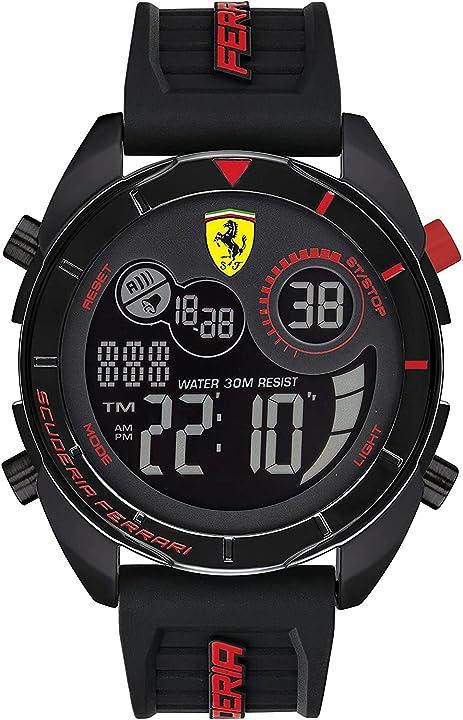 Orologio ferrari orologio alquarzo con cinturino in silicone 830743 scuderia ferrari 0830743