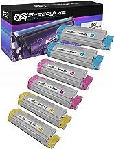 Speedy Inks - Okidata C610 Set of 6 Color Laser Cartridges: 2ea 44315303 Cyan, 44315302 Magenta, 44315301 Yellow for use in Oki C610cdn, Oki C610dn, Oki C610dtn, Oki C610n