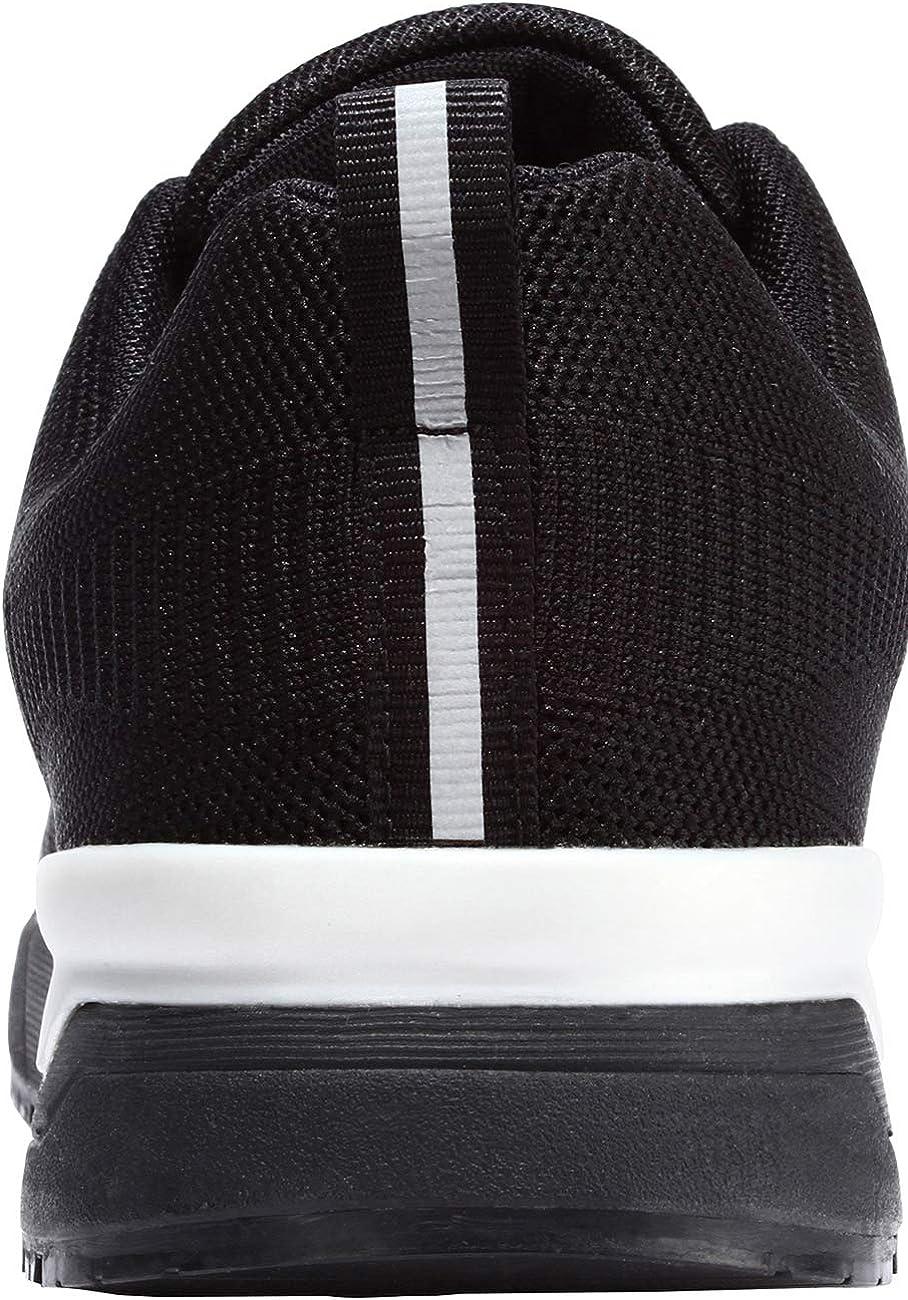 LARNMERN Baskets de Sécurité Hommes Femme LM180105 SB Respirables Ultra Légères Antidérapante Chaussures de Travail Noir L9105