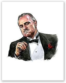 AtoZStudio A97 The Godfather Vito Corleone Poster // Movie Art Print // Marlon Brando Portrait // Home Decor (8x10)