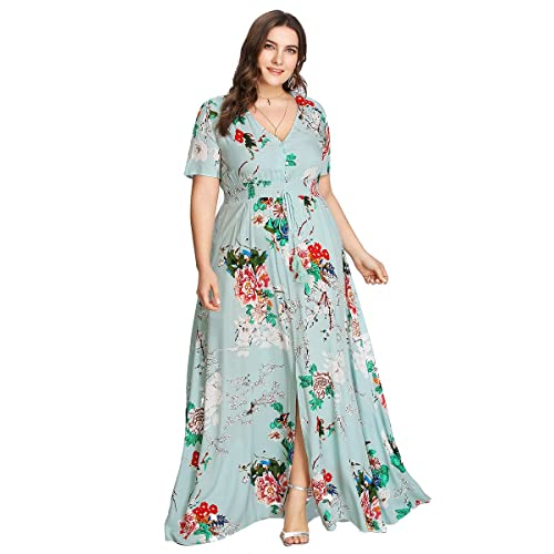 Plus Size Floral Maxi Dresses: Amazon.com