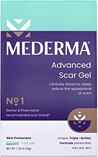 Mederma Advanced Scar Gel 1x Daily Reduces The Appearance Of Old New Scars #1 Doctor Pharmacist Recommended Brand for Scar...