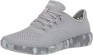 Crocs Women's LiteRide Camo Pacer Sneaker|Casual Shoe with Comfort Technology, Light Grey/NEO Mint
