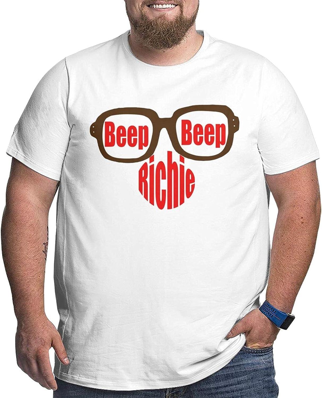 Beep Beep Richie Man's Simple Big Size Summer Outdoor Short Sleeve Round Collar Tee