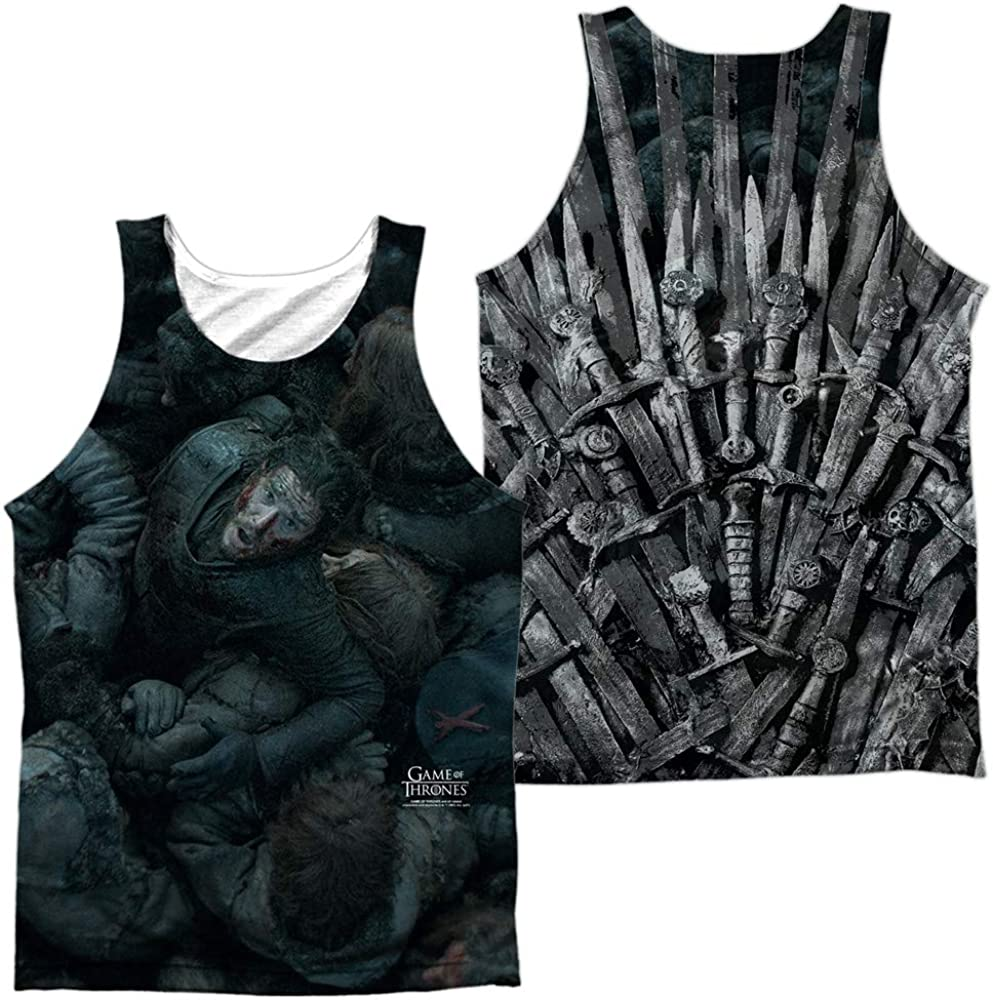 Game of Thrones Jon Snow The Ad Print Back Front Unisex Throne Ranking TOP1 Tampa Mall