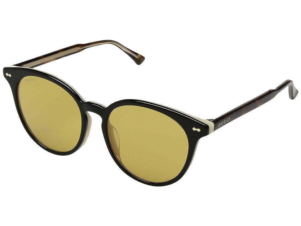 Gucci GG0195SK (Black/Nicotine) Fashion Sunglasses