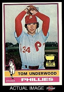 1976 Topps # 407 Tom Underwood Philadelphia Phillies (Baseball Card) Dean's Cards 6 - EX/MT Phillies