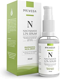 PRIVEDA 12% Niacinamide Face Serum for Acne Marks, Blemishes & Oil Balancing with 2% Zinc | Skin Clarifying Anti Acne Seru...