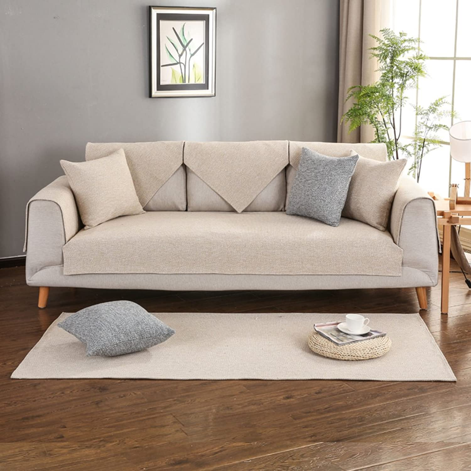 Sofa Cover,Dustproof Sofa Cover Reversible Quilting-F 110x210cm(43x83inch)