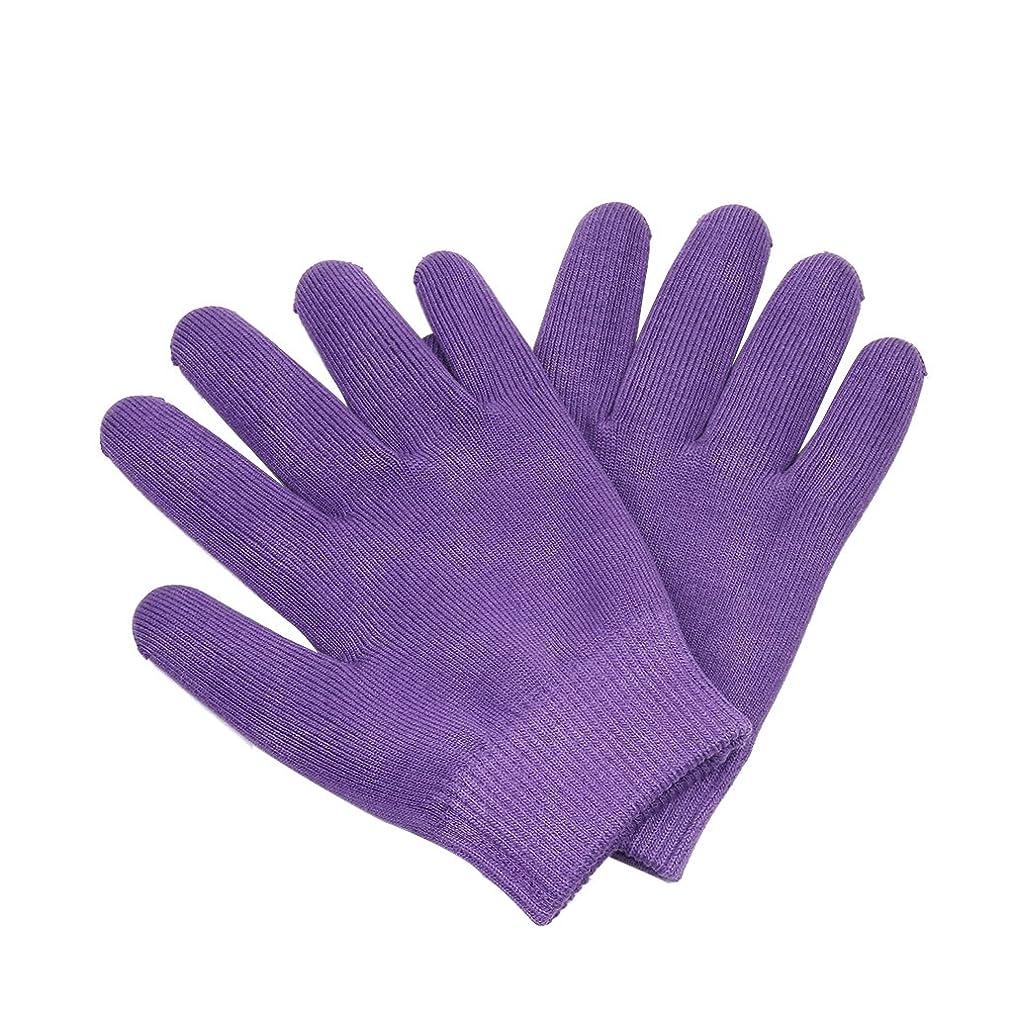 賃金効能ある一月Lovoski 保湿手袋 おやすみ手袋 手袋 手湿疹 乾燥防止 手荒れ 保湿 スキンケア  メンズ レディース 全3色選べ - 紫