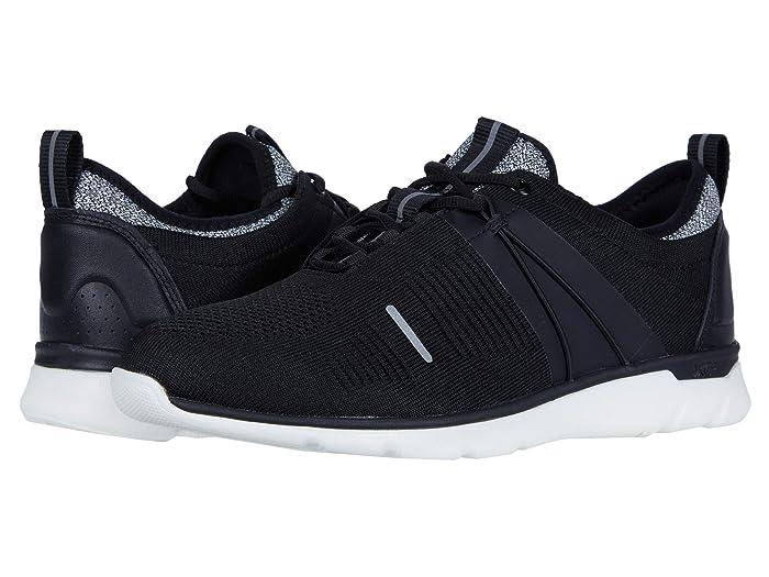 Johnston and Murphy  Waterproof XC4 Prentiss U-Throat Elastic (Black Knit) Mens Shoes