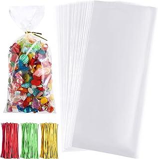Boao 150 Stücke Klar Taschen Pfote Drucken Zellophan Taschen Haustier Geschenk Taschen mit 150 Stücke Drehung Krawatten für Party Lieferungen (Stil 2)