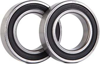 XiKe 2 Pack 6008-2RS Bearings 40x68x15mm, Stable Performance and Cost-Effective, Double Seal and Pre-Lubricated, Deep Groove Ball Bearings.