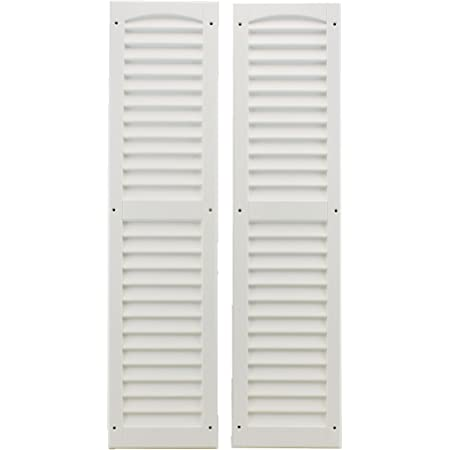 5 Pair Louvered Moulded Plastic Doll House Shutters Brown In Color New