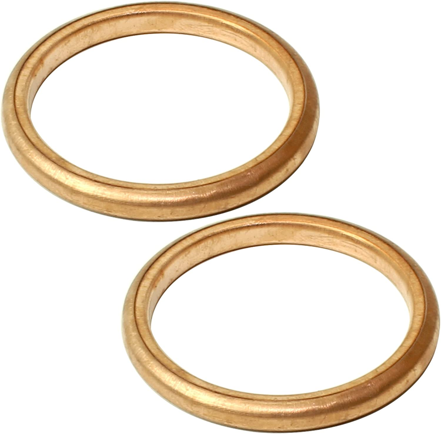 Caltric 2 Exhaust Pipe Gaskets Popular brand Tulsa Mall Trx400Ex Honda Compatible Tr With
